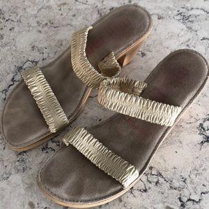 MIU MIU Strappy Gold Sandals